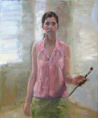 Self portrait - oil on canvas, representational and figurative painter